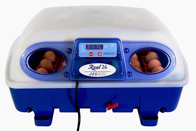 Lille rugemaskine med plads til 24 æg